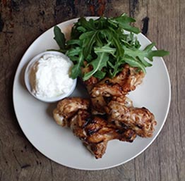 Flame Grilled Chicken Wings