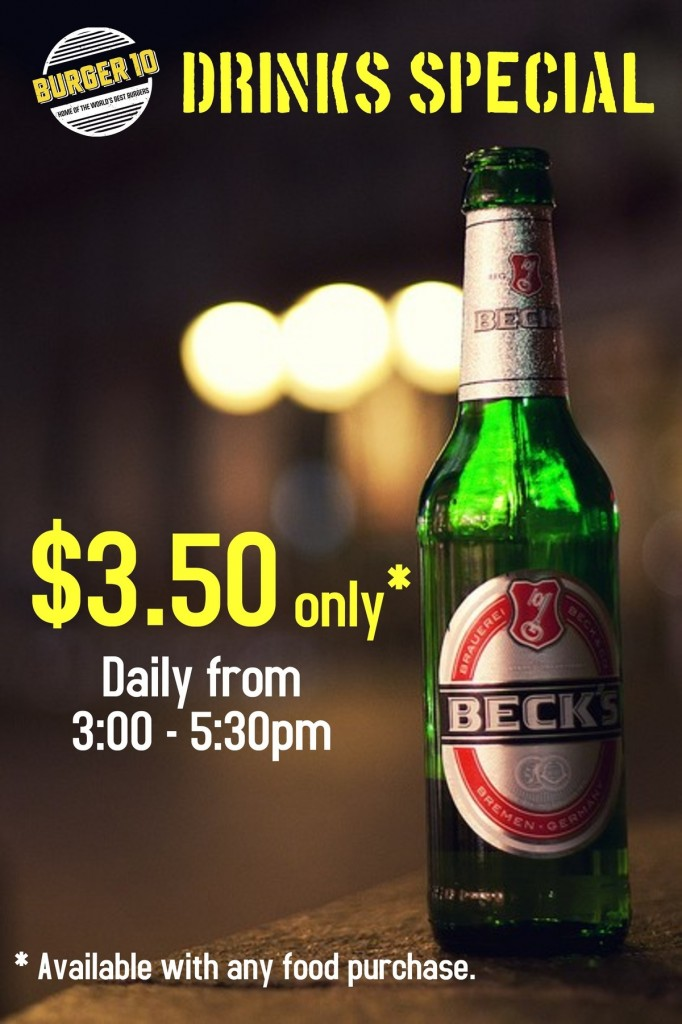 Beck's Beer Drinks Special